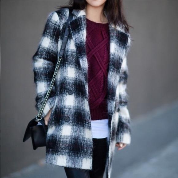 Theory Wool Blend Black/White Coat